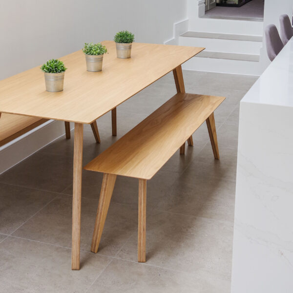 Brenin Dining and Benches Oak Veneer